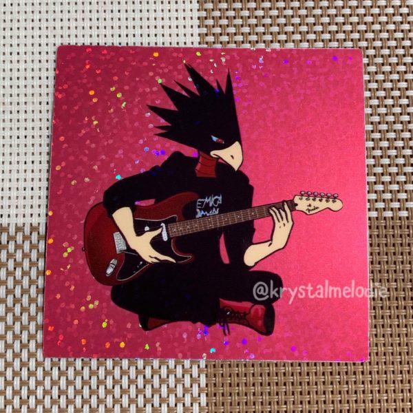 Tokoyami Guitar Glitter Holographic Stickers